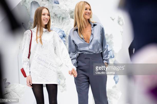 Lila Moss and Kate Moss are seen during the Dior Homme Menswear Spring Summer 2020 show on June 21 2019 in Paris France