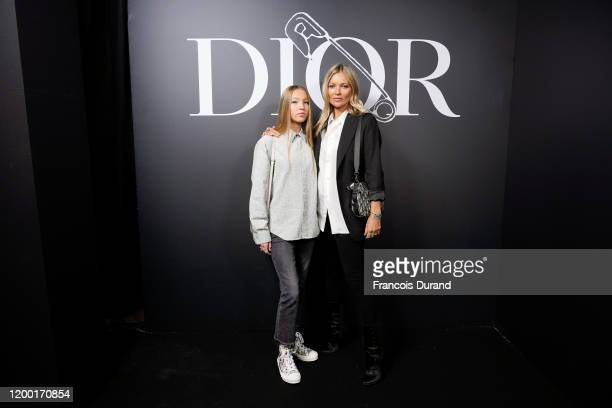 Lila Moss and Kate Moss attend the Dior Homme Menswear Fall/Winter 20202021 show as part of Paris Fashion Week on January 17 2020 in Paris France