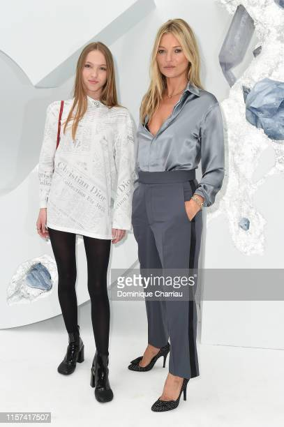 Lila Moss and Kate Moss attend the Dior Homme Menswear Spring Summer 2020 show as part of Paris Fashion Week on June 21 2019 in Paris France