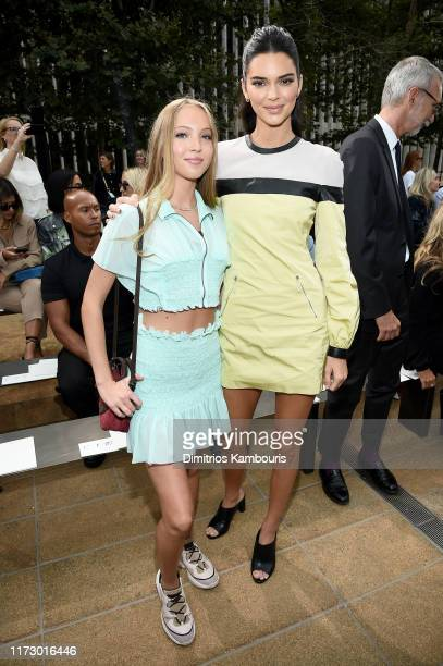 Lila Moss and Kendall Jenner attend the Longchamp SS20 Runway Show on September 07 2019 in New York City