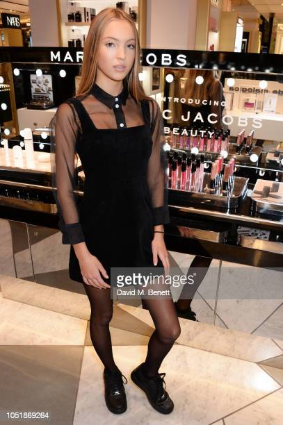 Lila Moss attends the debut of Lila Moss as the new 2019 face of Marc Jacobs Beauty and launch of the limited edition Leopard Frost Collection...