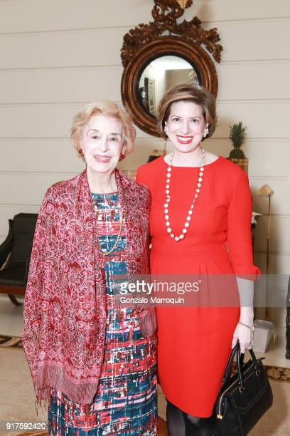 Lila Prounis and Amelia Prounis during the Susan Gutfreund Hosts UN Women For Peace Association Reception on February 12 2018 in New York City
