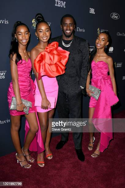 Lila Star Combs Chance Combs Honoree Sean Diddy Combs and Jessie James Combs attend the PreGRAMMY Gala and GRAMMY Salute to Industry Icons Honoring...