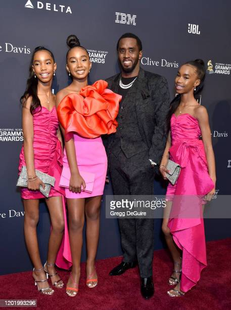 D'Lila Star Combs Chance Combs Honoree Sean Diddy Combs and Jessie James Combs attends the PreGRAMMY Gala and GRAMMY Salute to Industry Icons...
