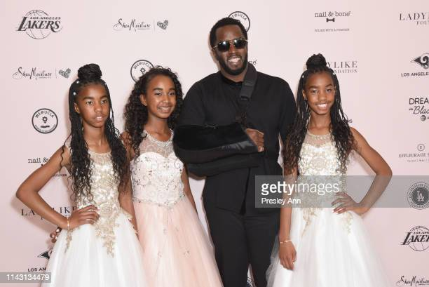 D'Lila Star Combs Chance Combs Sean Combs and Jessie James Combs attend The LadyLike Foundation Women Of Excellence Luncheon at The Beverly Hilton...