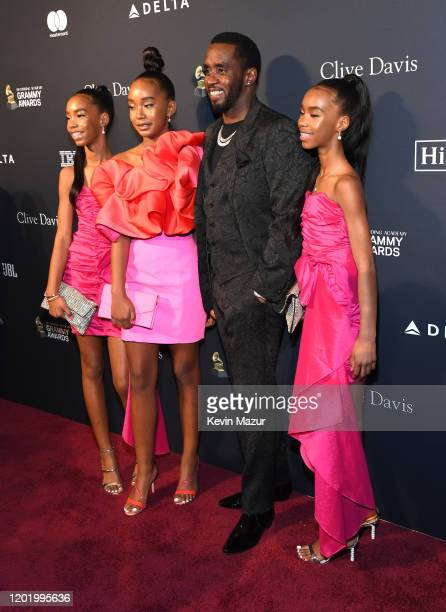 D'Lila Star Combs Chance Combs Sean Combs and Jessie James Combs attend the PreGRAMMY Gala and GRAMMY Salute to Industry Icons Honoring Sean Diddy...