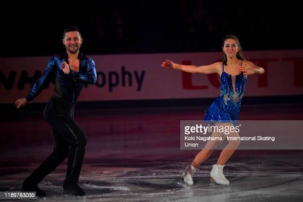 Lilah Fear and Lewis Gibson of Great Britain perform in the Gala Exhibition during day 3 of the ISU Grand Prix of Figure Skating NHK Trophy at...