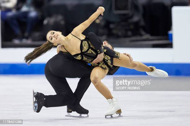 Lilah Fear and Lewis Gibson of Great Britain skate their free dance at the 2019 Skate Canada International ISU Grand Prix event in Kelowna, Canada,...