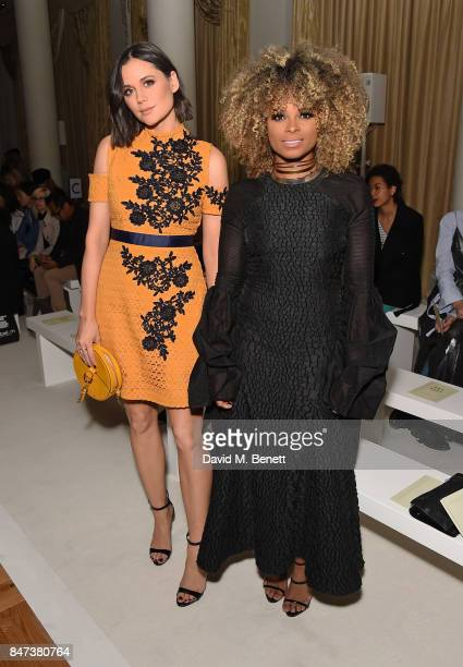 Lilah Parsons and Fleur East attend the DAKS show during London Fashion Week September 2017 at The Langham Hotel on September 15 2017 in London...