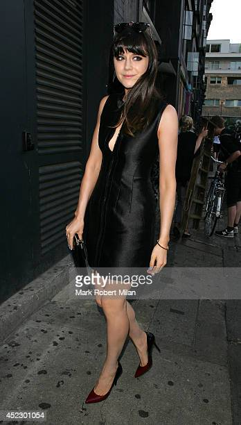 Lilah Parsons at Shoreditch House on July 17 2014 in London England