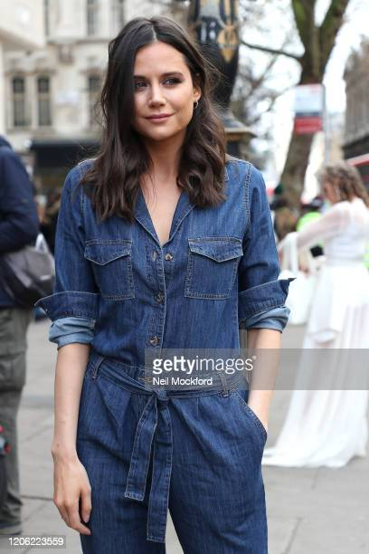 Lilah Parsons attends No | Off at BFC Show Space during LFW February 2020 on February 14 2020 in London England