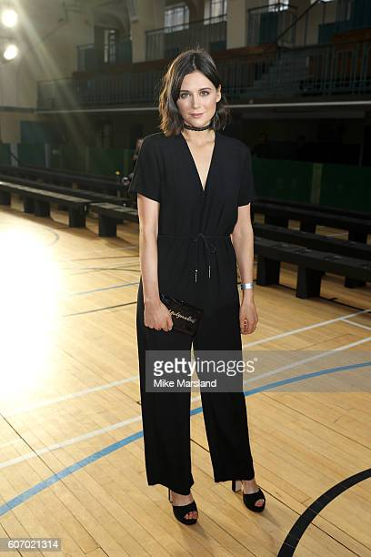 Lilah Parsons attends the Julien Macdonald show during London Fashion Week Spring/Summer collections 2016/2017 on September 17 2016 in London United...