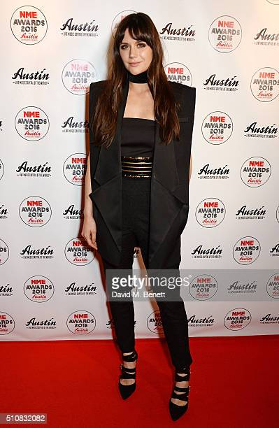 Lilah Parsons attends the NME Awards with Austin Texas at the O2 Academy Brixton on February 17 2016 in London England