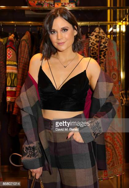 Lilah Parsons attends the opening of 'Notes From A Misunderstood Weed' a collaboration between Jacapo Etro and Welsh artist Dan Rees at Etro Old Bond...