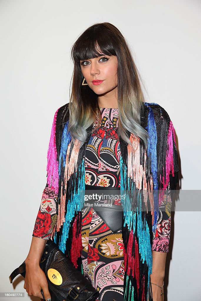 Lilah Parsons attends the PPQ show during London Fashion Week SS14 at BFC Courtyard Showspace on September 13, 2013 in London, England.