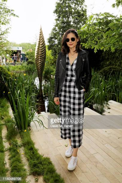 Lilah Parsons attends 'The Savills and David Harber Garden' which celebrates the environmental benefit and beauty of trees plants and gardens in...
