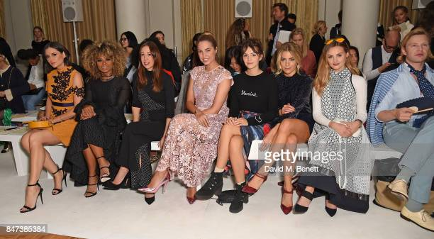 Lilah Parsons Fleur East guest Amber Le Bon Ella Hunt Olivia Cox Niomi Smart and Henry Conway attend the DAKS show during London Fashion Week...