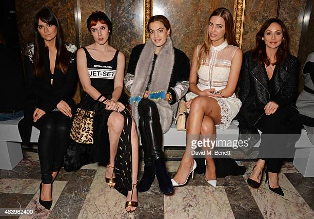 Lilah Parsons Paula Goldstein Chelsea Leyland Amber Le Bon and Natalie Imbruglia attend the Sass Bide A/W Show during London Fashion Week Fall/Winter...