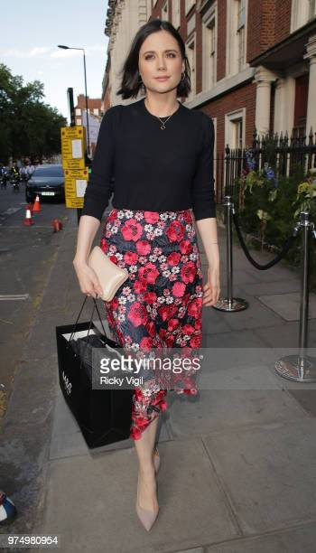 Lilah Parsons seen attending Maison StGermain private view at 38 Grosvenor Square on June 14 2018 in London England