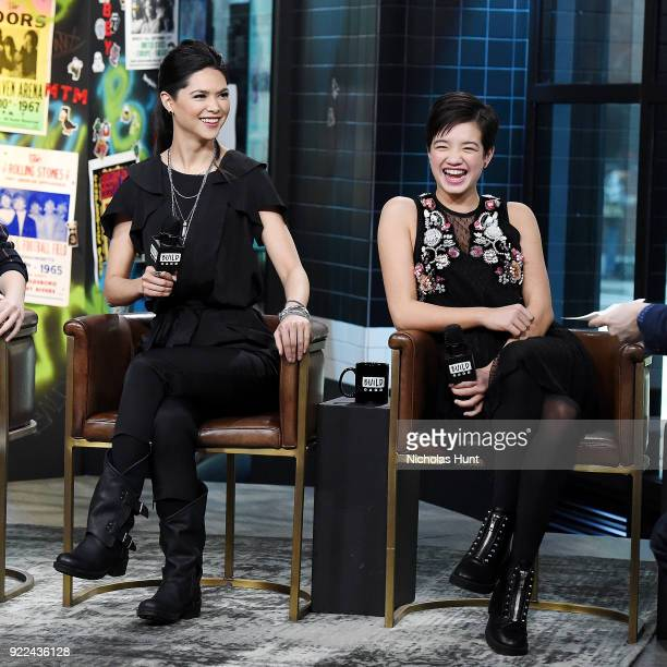 Lilan Bowden and Peyton Lee attend Build Series to discuss 'Andi Mack' at Build Studio on February 21 2018 in New York City