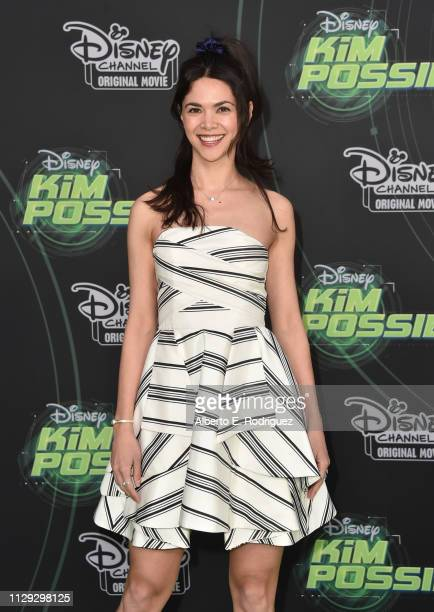 Lilan Bowden attends the premiere of Disney Channel's Kim Possible at The Television Academy on February 12 2019 in Los Angeles California