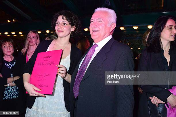 Lilas 2013 awarded writer Alice Zeniter for 'Sombre Dimanche' and Miroslav Siljegovic attend La Closerie Ses Lilas Literary Awards 2013 6th Edition...