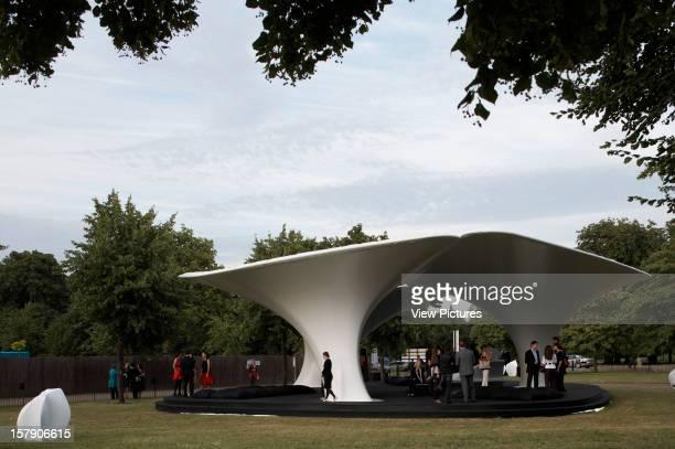 Lilas Pavilion Serpentine Gallery London United Kingdom Architect Zaha Hadid Lilas Pavilion Serpentine Gallery View Through Trees