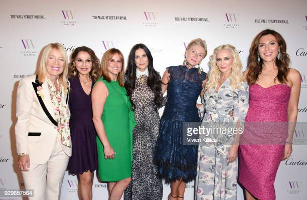Lili Bosse Angella Nazarian Nina Kotick Demi Moore Shelley Reid Trina Venit and Thea Andrews attend Visionary Women Honors Demi Moore in Celebration...