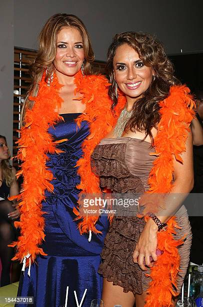 Lili Brillanti and guest attend the Playboy Mexico magazine 10th anniversary party at Allondra interlomas on October 18 2012 in Mexico City Mexico