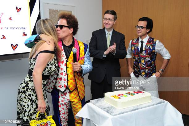Lili Buffett Romero Britto Howard Warren Buffett and Dr Lucas Vidal attends Birthday Of Romero Britto Madeleine Arison Howard Buffett And Dr Lucas...