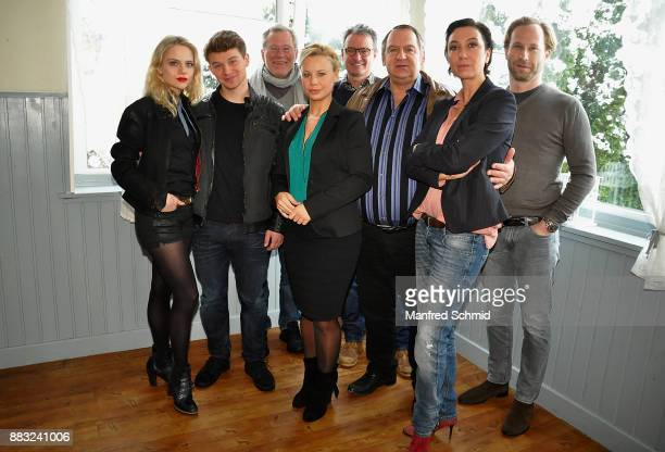 Lili Epply, Simon Morze, Heinrich Mis; Katharina Strasser, Gerald Liegel, Wolf Bachofner, Ursula Strauss and producer Oliver Auspitz pose during the...
