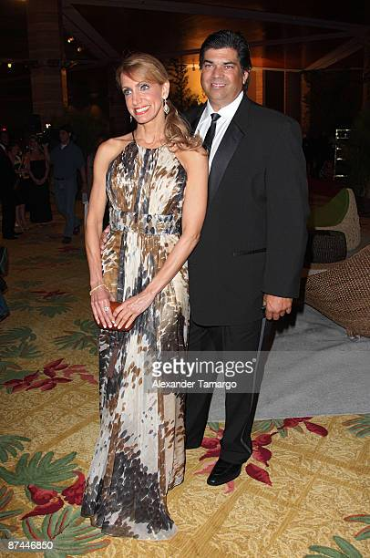 Lili Estefan and Lorenzo Luaces attend the 7th Annual Fed Ex and St Jude Angels and Stars Gala at InterContinental Hotel on May 16 2009 in Miami...