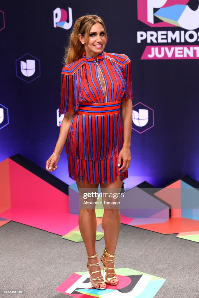 Lili Estefan attends the Univision's 'Premios Juventud' 2017 Celebrates The Hottest Musical Artists And Young Latinos Change-Makers at Watsco Center on July 6, 2017 in Coral Gables, Florida.