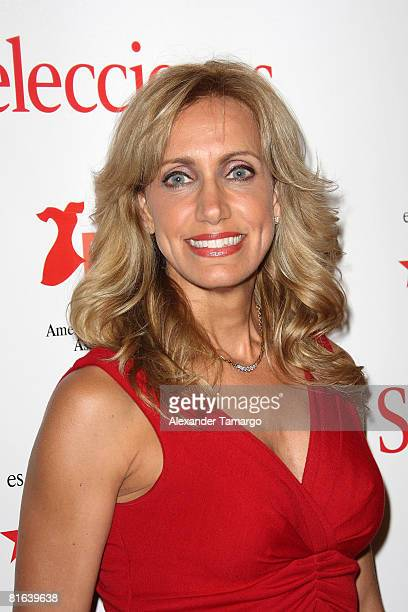 Lili Estefan poses at the Selecciones and American Heart Association Go For Red reception at the Ritz Carlton Coconut Grove on June 19 2008 in...