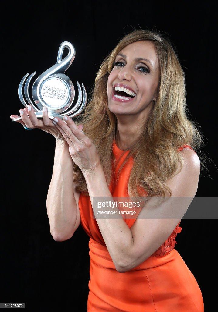 Lili Estefan poses at Univision's 29th Edition of Premio Lo Nuestro A La Musica Latina at the American Airlines Arena on February 23, 2017 in Miami, Florida.