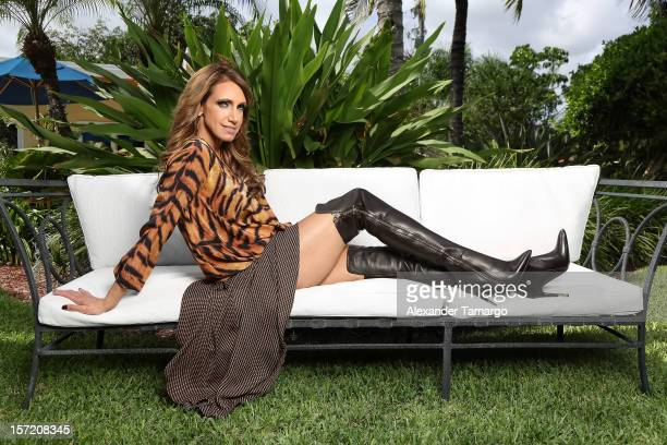 Lili Estefan poses during a photo shoot at her home for Venue Magazine's 'Intimo' section on November 29 2012 in Miami Florida