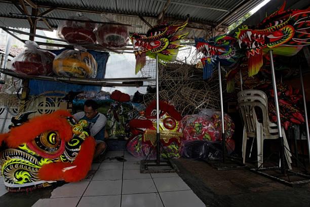 IDN: Creates Of Liong And Barongsai Ahead Lunar New Year