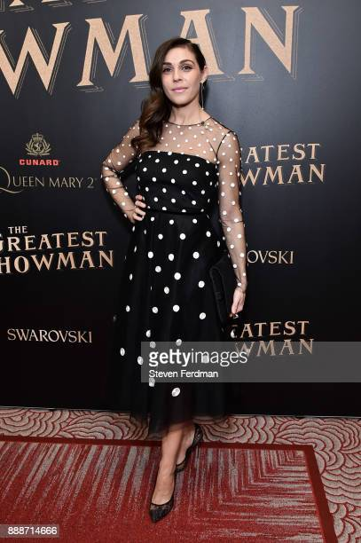 Lili Mirojnick attends 'The Greatest Showman' World Premiere aboard the Queen Mary 2 at the Brooklyn Cruise Terminal on December 8 2017 in the...