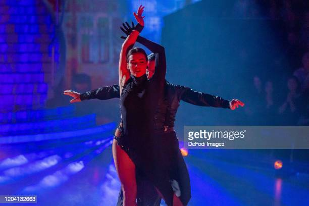 Lili PaulRoncalli and Massimo Sinato looks on during the 1st show of the 13th season of the television competition Let's Dance on February 28 2020 in...