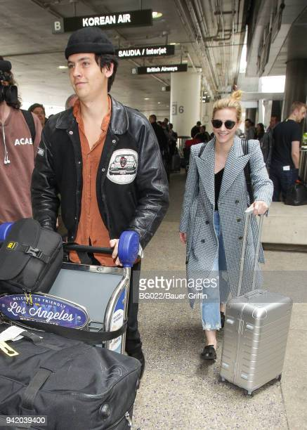 Lili Reinhart and Cole Sprouse are seen on April 04 2018 in Los Angeles California