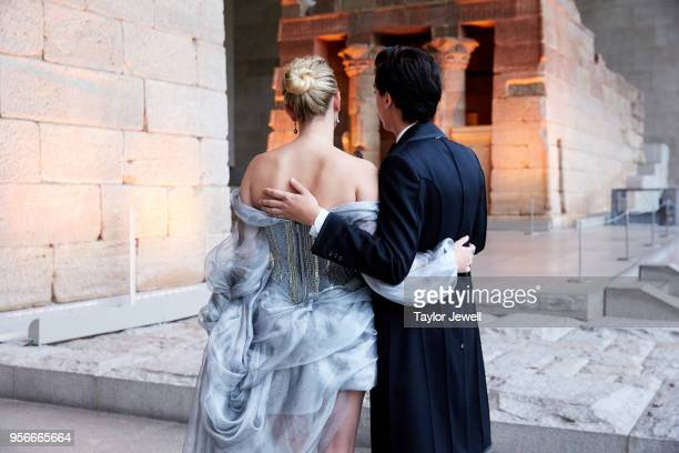 Lili Reinhart and Cole Sprouse attend Heavenly Bodies Fashion The Catholic Imagination Costume Institute Gala at The Metropolitan Museum of Art on...
