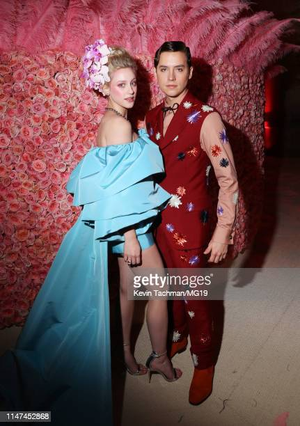 Lili Reinhart and Cole Sprouse attend The 2019 Met Gala Celebrating Camp Notes on Fashion at Metropolitan Museum of Art on May 06 2019 in New York...
