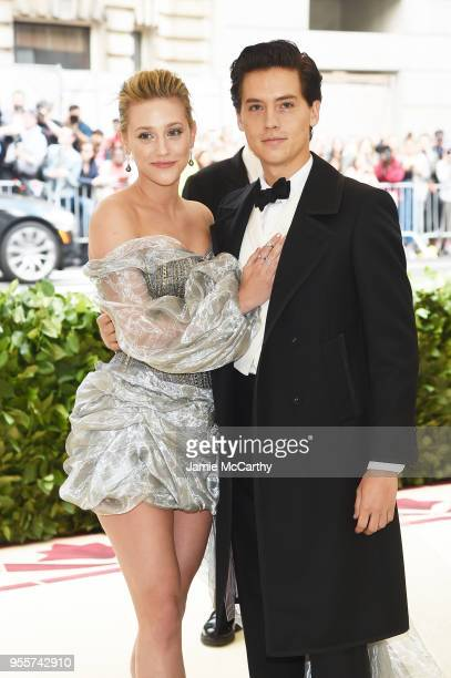Lili Reinhart and Cole Sprouse attend the Heavenly Bodies Fashion The Catholic Imagination Costume Institute Gala at The Metropolitan Museum of Art...