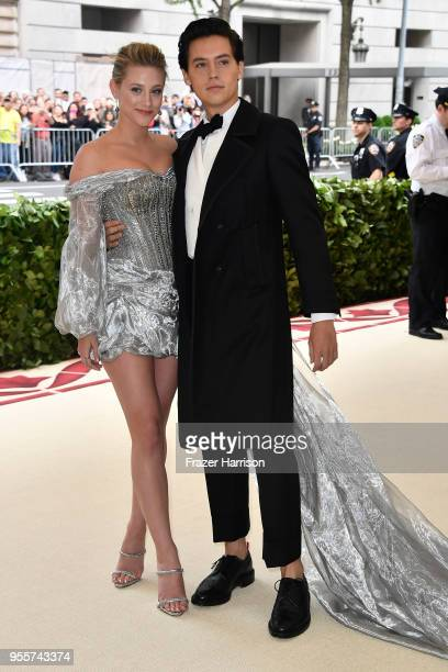 Lili Reinhart and Cole Sprouse attend the Heavenly Bodies: Fashion & The Catholic Imagination Costume Institute Gala at The Metropolitan Museum of...
