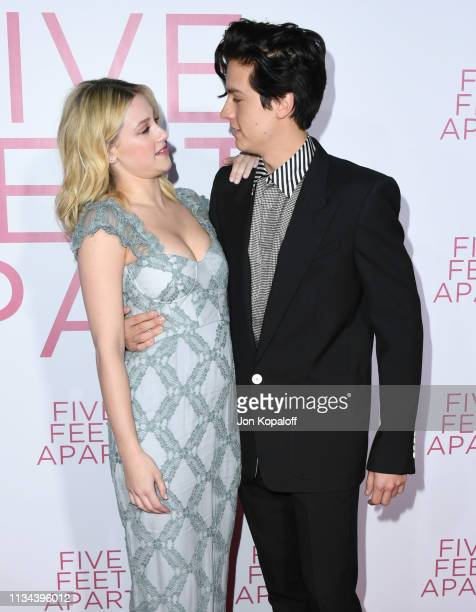 Lili Reinhart and Cole Sprouse attend the premiere of Lionsgate's Five Feet Apart at Fox Bruin Theatre on March 07 2019 in Los Angeles California