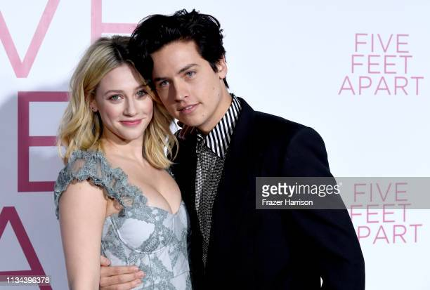 "Lili Reinhart and Cole Sprouse attend the Premiere Of Lionsgate's ""Five Feet Apart"" at Fox Bruin Theatre on March 07, 2019 in Los Angeles, California."