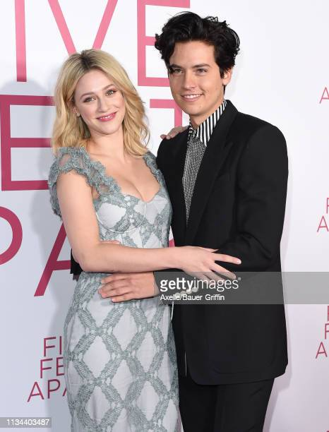 Lili Reinhart and Cole Sprouse attend the premiere of Lionsgate's 'Five Feet Apart' at Fox Bruin Theatre on March 07 2019 in Los Angeles California