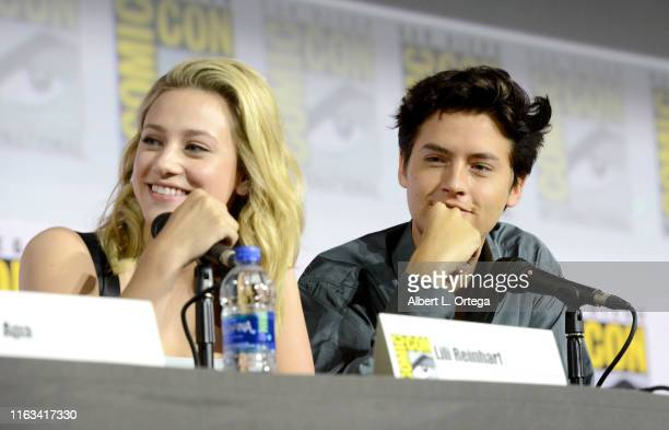 Lili Reinhart and Cole Sprouse speak at the Riverdale Special Video Presentation and QA during 2019 ComicCon International at San Diego Convention...