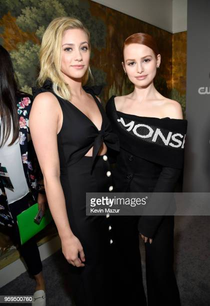 Lili Reinhart and Madelaine Petsch attend The CW Network's 2018 upfront at The London Hotel on May 17, 2018 in New York City.