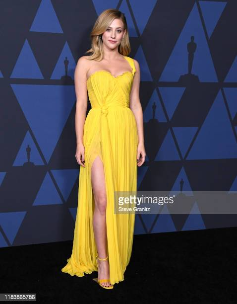 Lili Reinhart arrives at the Academy Of Motion Picture Arts And Sciences' 11th Annual Governors Awards at The Ray Dolby Ballroom at Hollywood &...